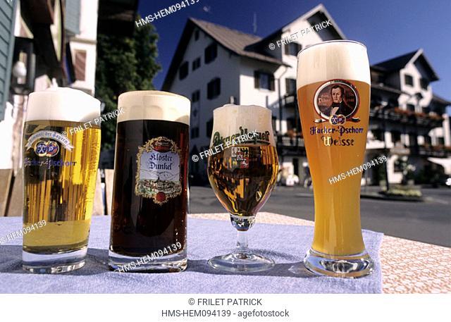 Germany, Bavaria region, beer glasses