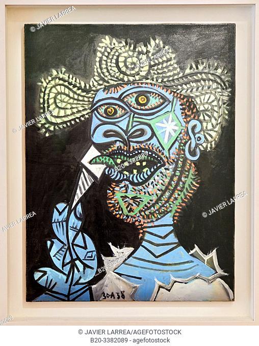"""""""Homme au chapeau de paille et au cornet de glace"""", 1938, Pablo Picasso, Picasso Museum, Paris, France, Europe"""