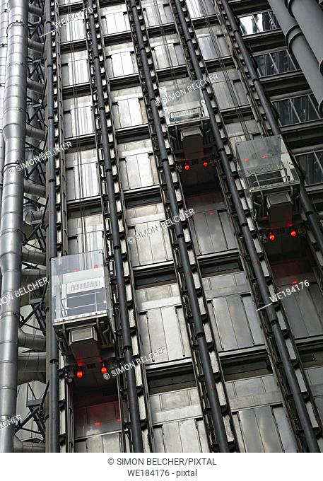Lloyds Building Elevators, London, United Kingdom