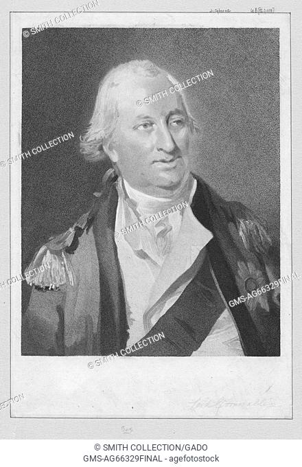 Portrait of Lord Charles Cornwallis, one of the leading British generals in the American War of Independence, 1900. From the New York Public Library