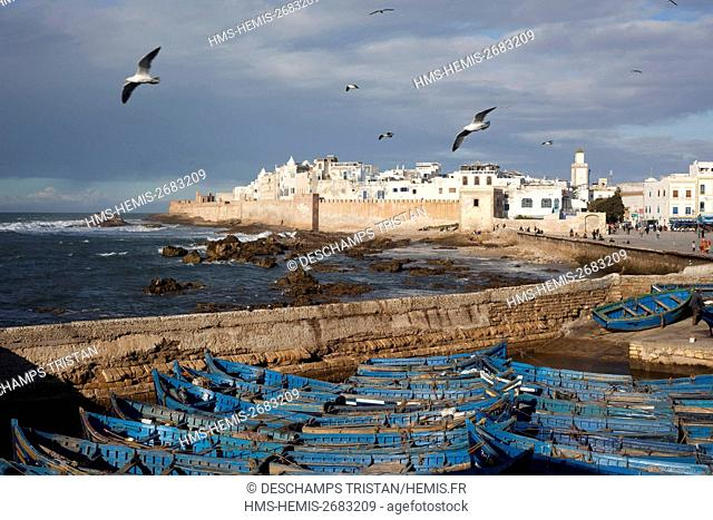 Morocco, Essaouira, listed as World Heritage by UNESCO, fishing , old medina