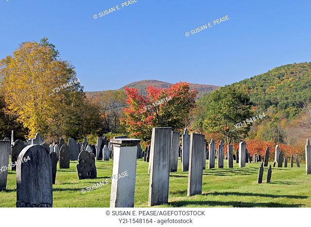 Cemetery at the Rockingham Meeting House, Rockingham, Vermont, United States