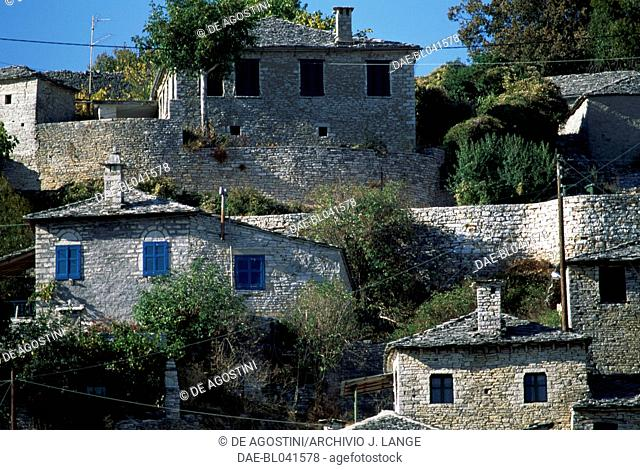 Houses in Monodendri, Zagoria, Epirus, Greece