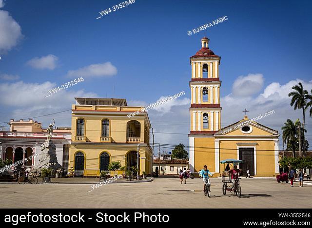 Iglesia de Nuestra Señora del Buen Viaje, Church of Our Lady of good travel at the main square, Remedios, Cuba