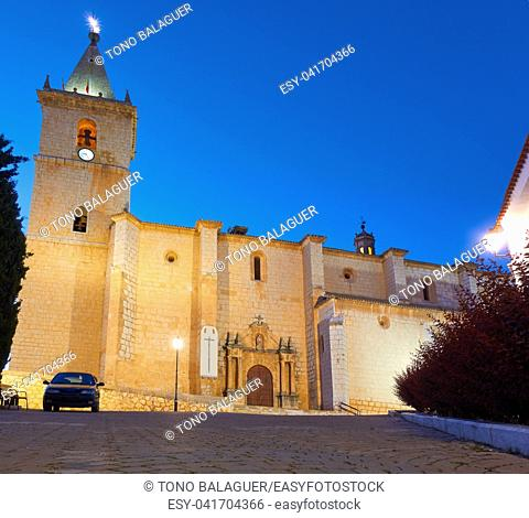 La Roda El Salvador church in Albacete at Castile La mancha of Spain