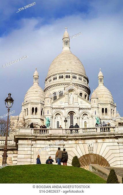 Paris, France, Montmartre - Sacre-Coeur Basilica