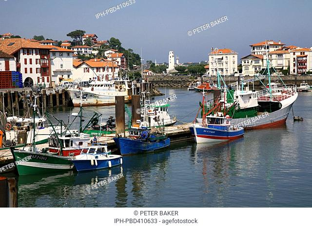 St-Jean-de-Luz - Busy Basque fishing port at the estuary of the River Nivelle where it enters the Bay of Biscay