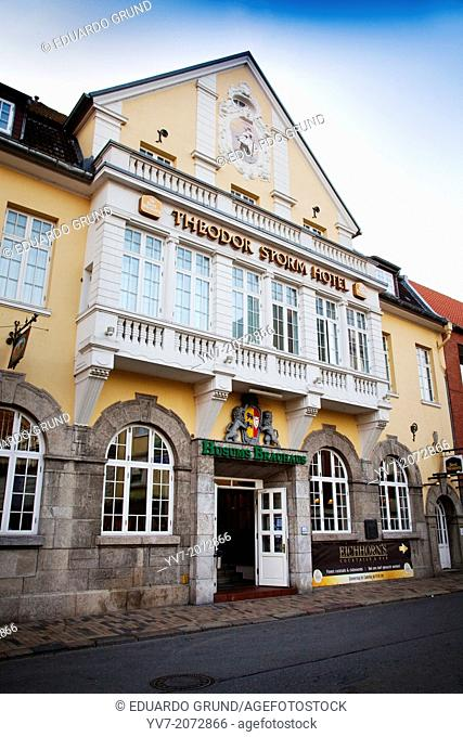 Theodor Storm Hotel. Husum, North Friesian Islands, Schleswig-Holstein, Germany, Europe