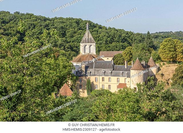 France, Indre, Berry region, Creuse Valley, Gargilesse Dampierre, labelled Les Plus Beaux Villages de France (The Most Beautiful Villages of France)