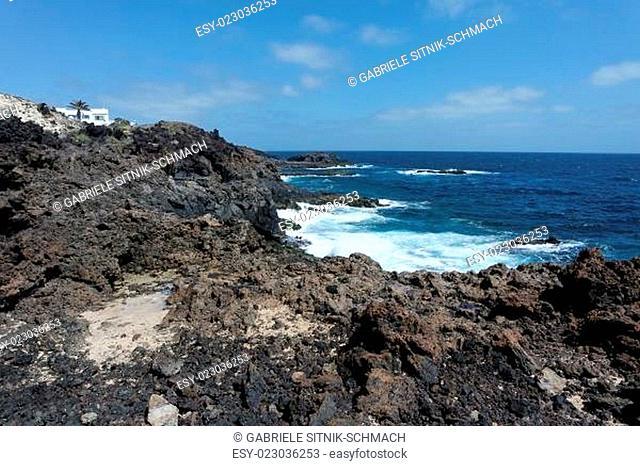Felsige Küste bei Charco del Palo, Lanzarote