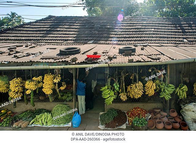 shops, chavakkad, Kerala, India, Asia