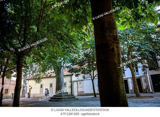 Praza das Barbaras, Coruña city, Galicia, Spain