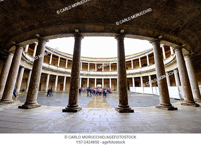 Palace of Charles V, The Alhambra, Granada, Andalusia, Spain