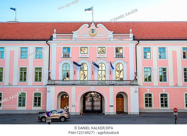 Estonia: Toompea Castle: the seat of the Estonian Parliament in Tallinn..Photo from June 4th, 2018. | usage worldwide. - Tallinn/Harju/Estonia