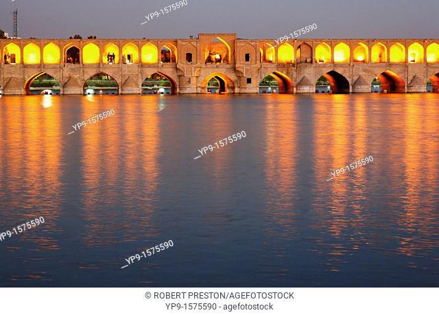 The Se-o-se bridge or Bridge of 33 arches, Isfahan , Iran