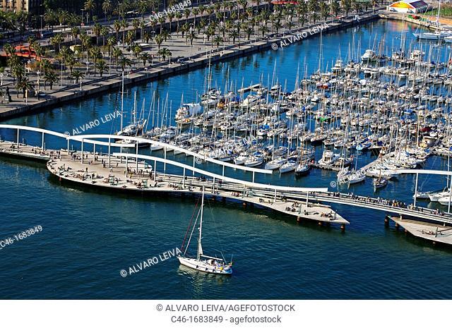 Rambla de Mar, Port Vell  Barcelona  Catalonia  Spain