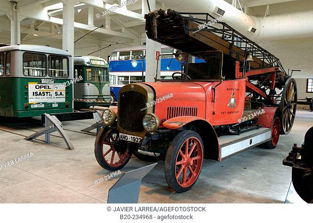 Old vehicles at museum of railway history. Azpeitia. Guipúzcoa, Euskadi. Spain