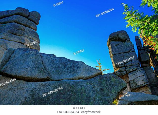 Cuckoo rocks ( kukulcze skaly ) in the Karkonosze National Park, Sudets, Poland