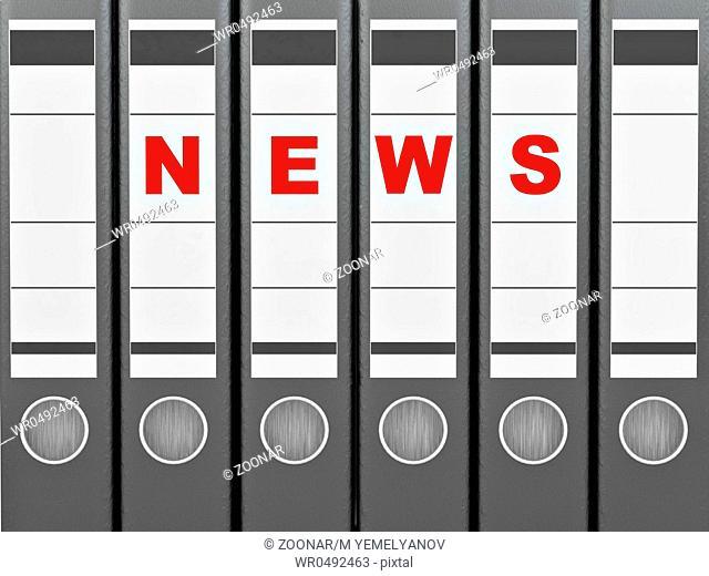 Archiveof news. Many folders. 3d