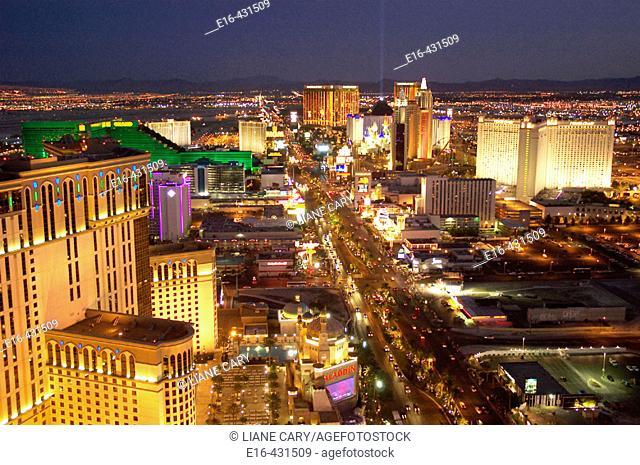 Las Vegas Strip at night. USA