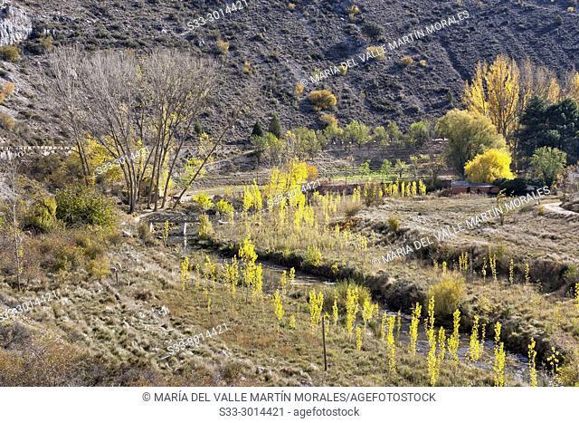 River Riaza. Segovia. Castilla Leon. Spain. Europe