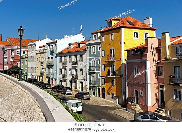 Portugal, Europe, Lisbon, Lisboa, Alfama, Campo de Santa Clara, street view, street, Igreja de Santa Engracia, Panteao Naciona, architecture, building