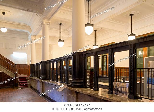 Tsuruga municipal museum(Lobby of former Owada bank), built in 1927, a lavish architecture offers exhibits on the history, folk customs and art ofTsuruga