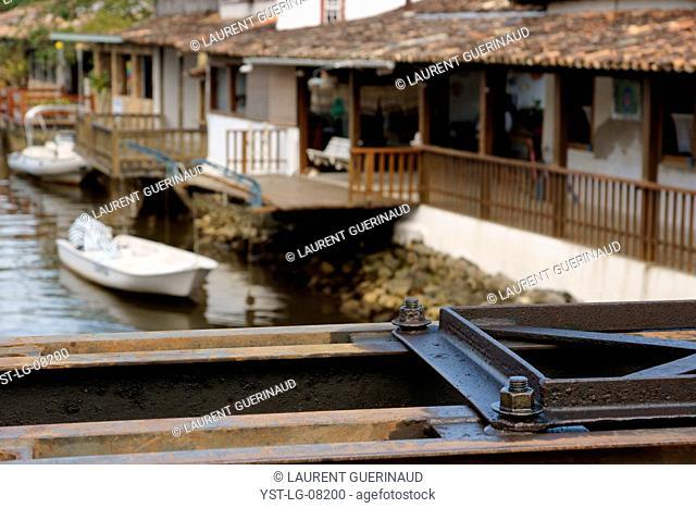 Laugh, catwalk, Historical Center, City, Paraty, Brazil