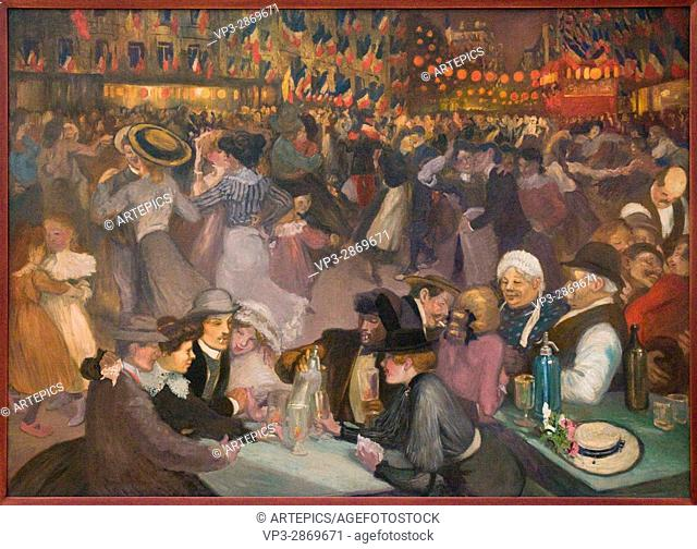 Théophile Alexandre Steinlen. 14 juillet. 14 th July. 1889. Oil on canvas. Petit Palais Museum. Paris - France