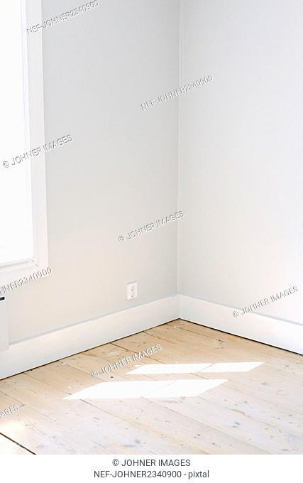 Sunlight on wooden floor