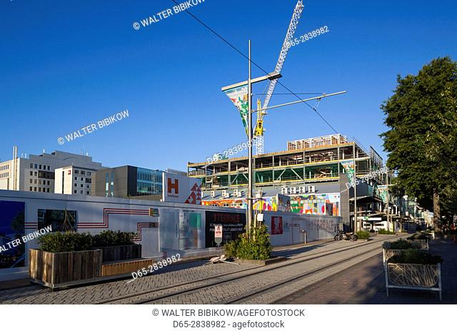New Zealand, South Island, Christchurch, City Mall, commercial distrct being rebuilt after the 2011 earthquake
