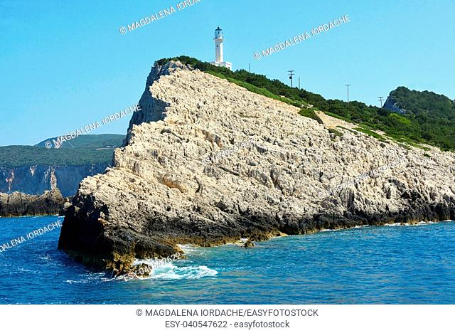 Lighthouse Doukato in Lefkada island, Greece
