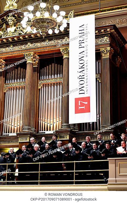 Oratorio Stabat Mater by Antonin Dvorak began the 10th year of the international music festival Dvorak Prague in the Prague Rudolfinum, Czech Republic