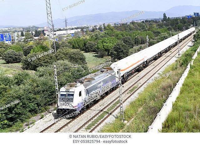 Freight train, Montornes del Valles, Barcelona, Spain