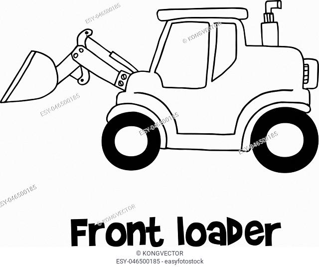 Front loader of vector art collection stock