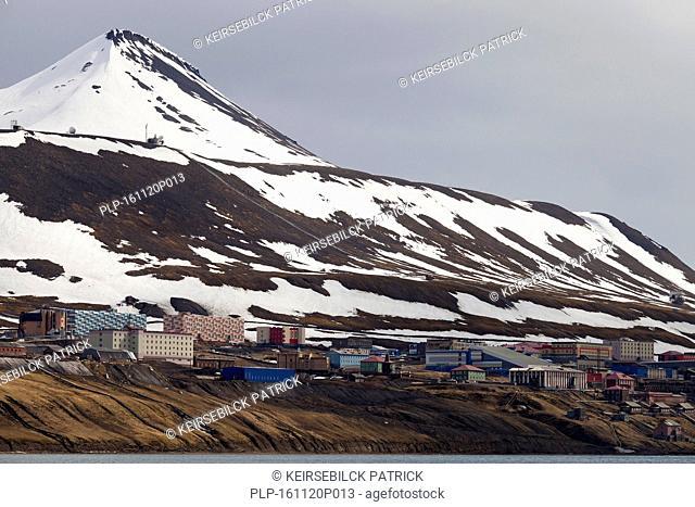Barentsburg, Russian coal mining settlement at Isfjorden, Spitsbergen / Svalbard, Norway