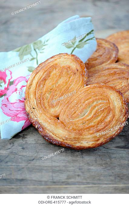 Butter and sugar palm tree pastries