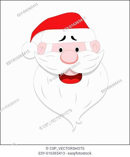 Santa Face Vector
