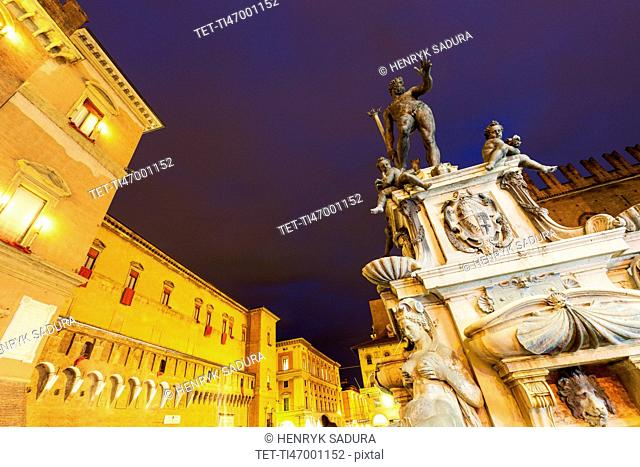 Fountain of Neptune on Piazza Maggiore
