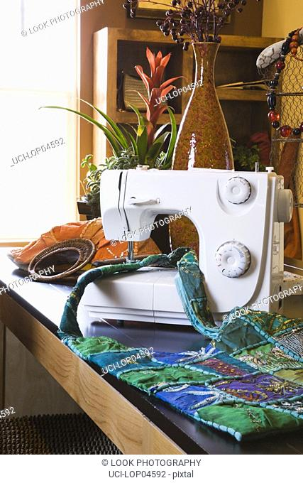 Sewing Machine in Home Business