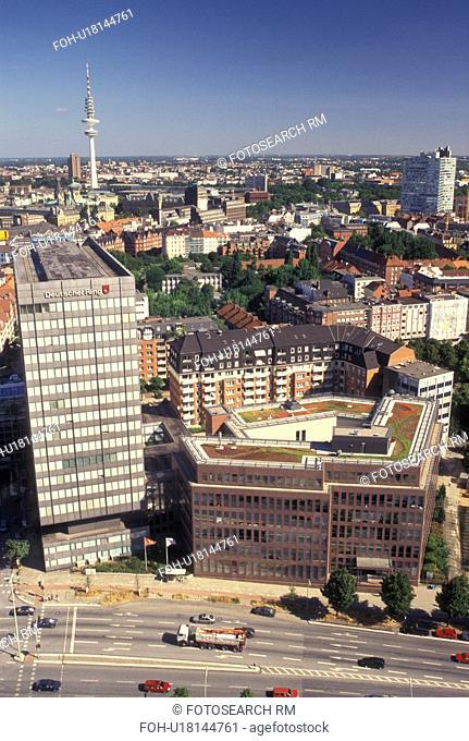 aerial, Hamburg, Germany, Europe, Aerial view of the city of Hamburg