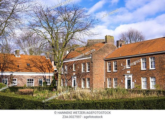 Old courtyard in 's-Hertogenbosch, the Netherlands, Europe