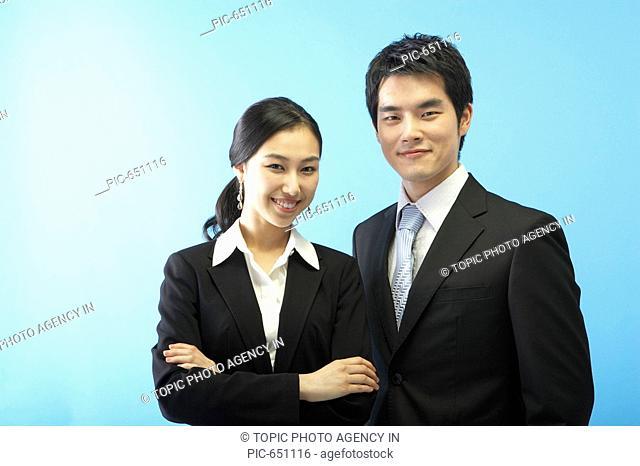 Businessman and Businesswoman,Korea