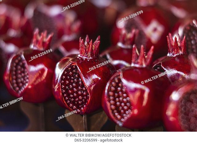 Armenia, Yerevan, Vernissage Market, pomegranate sculpture