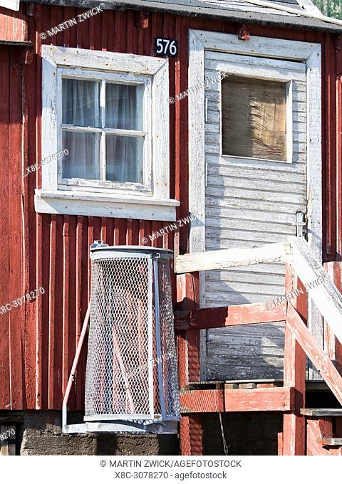 Small town Uummannaq in the north of west greenland. America, North America, Greenland, Denmark