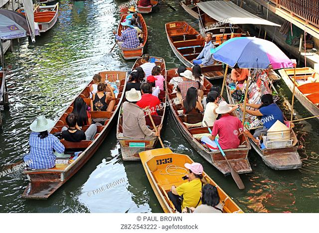 Damnoen Saduak Floating Market, Ratchaburi near Bangkok, Thailand