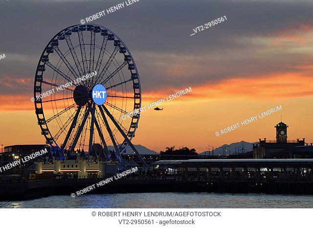 Hong Kong observation wheel, Victoria harbor, Hong Kong, China