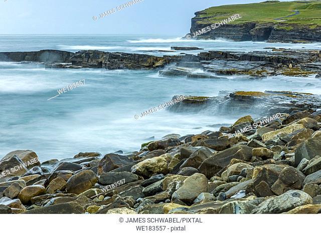 Coastline at Downpatrick Head on the Wild Atlantic Way in northern County Mayo Ireland