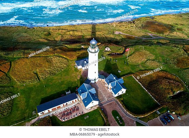 Lighthouse in Hirtshals (town), Nordjylland, Denmark