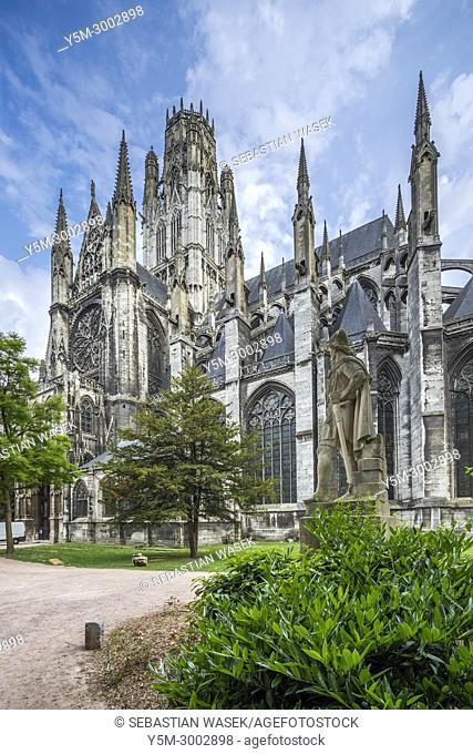 Monastery of Saint-Ouen, Rouen, Seine-Maritime, Normandie, France, Europe